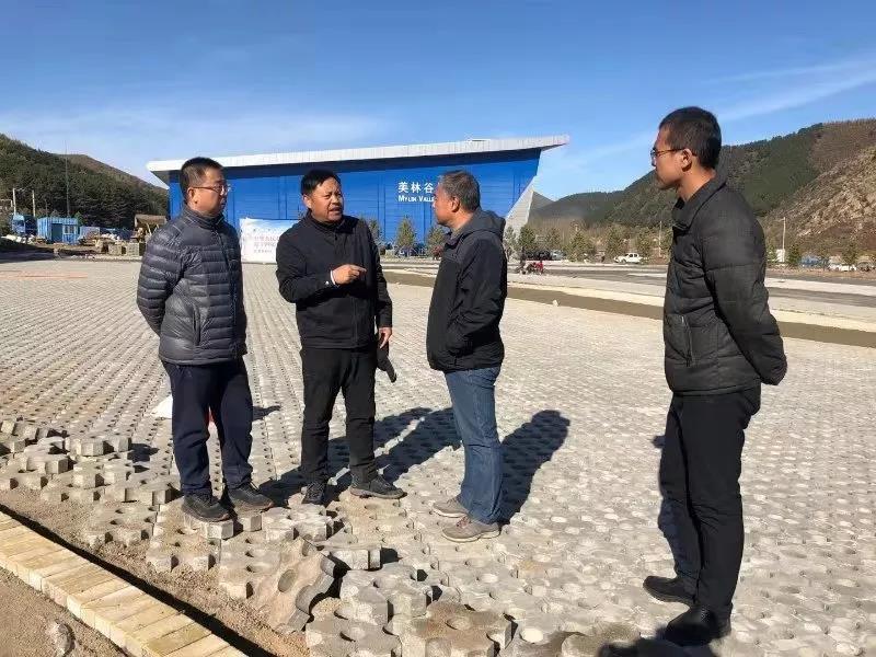 旗委书记高希华到美林镇督导十四冬项目进展情况