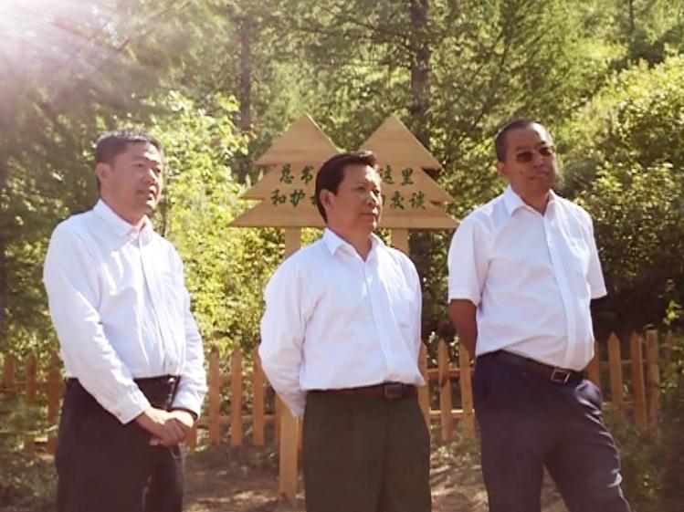新华社内蒙古分社负责人于长洪到喀喇沁旗调研